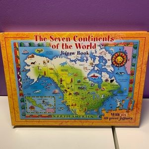 Continents Puzzle Book